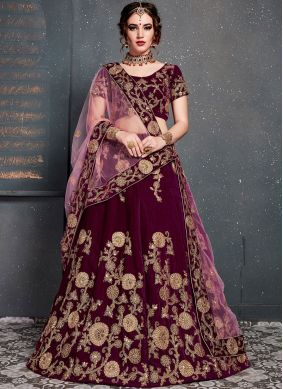 Blissful Magenta Wedding Designer Lehenga Choli