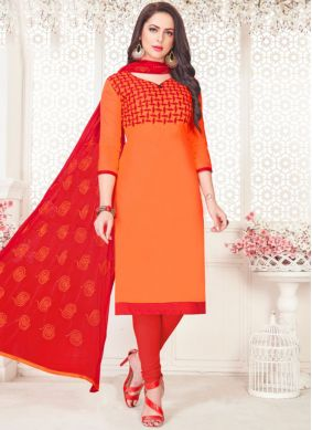 Blooming Churidar Suit For Casual