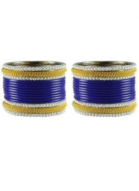Blue and Gold Bangles