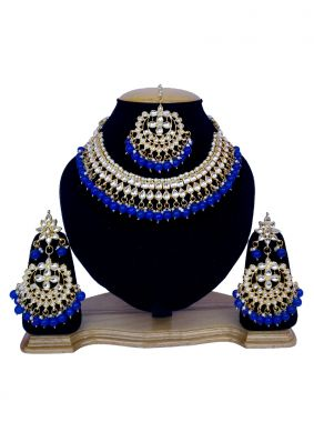 Blue and Gold Festival Necklace Set
