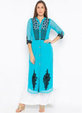 Blue Ceremonial Party Wear Kurti