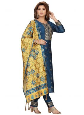 Blue Ceremonial Readymade Suit