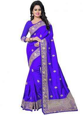 Blue Color Traditional Saree