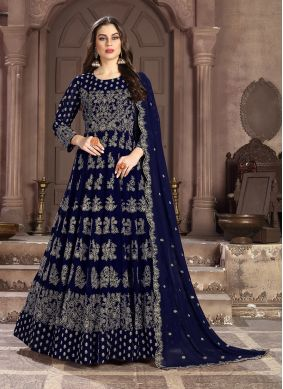 Blue Embroidered Anarkali Salwar Suit