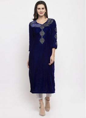 Blue Embroidered Readymade Salwar Suit
