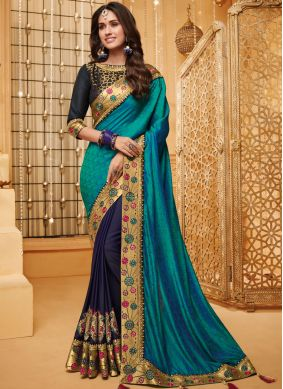 Blue Fancy Fabric Party Classic Saree