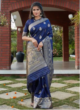 Blue Festival Traditional Designer Saree
