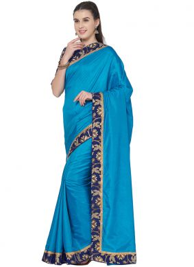 Blue Lace Trendy Saree