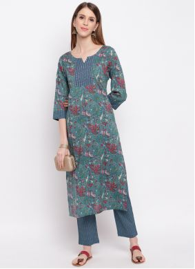 Blue Party Casual Kurti