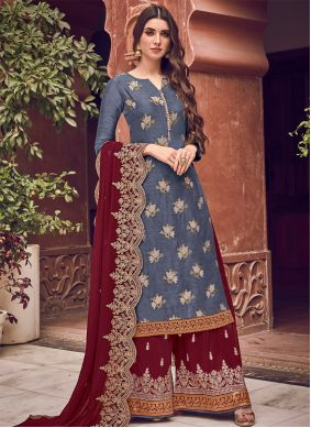 Blue Reception Bollywood Salwar Kameez
