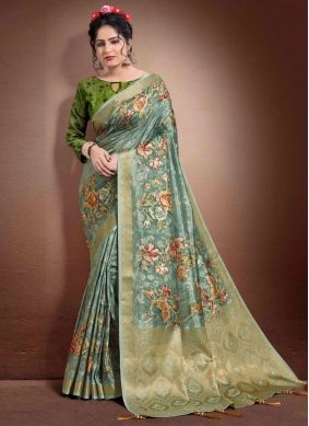 Blue Reception Classic Saree