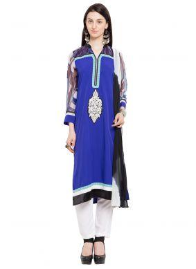 Blue Reception Readymade Salwar Kameez