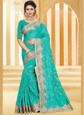 Blue Stone Traditional Saree