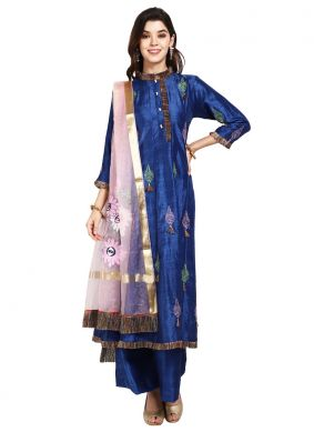 Blue Thread Designer Pakistani Salwar Suit