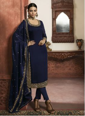 Blue Wedding Designer Salwar Suit