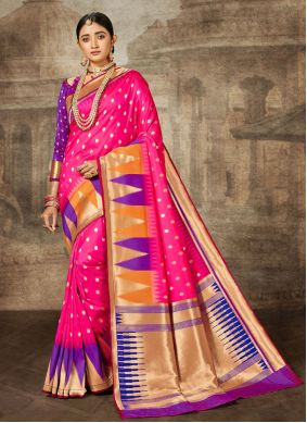 Pink Bollywood Saree For Engagement