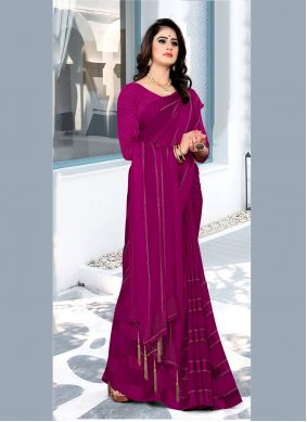 Hot Pink Bollywood Saree For Festival