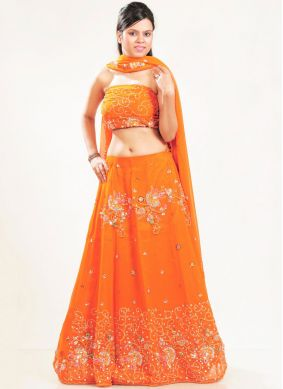 Breathtaking Embroidered Faux Georgette Lehenga Choli