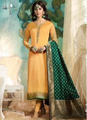 Breathtaking Georgette Satin Party Pant Style Suit
