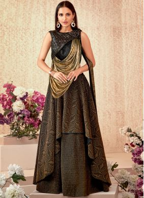 Breathtaking Sequins Ceremonial Designer A Line Lehenga Choli
