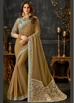 Brilliant Art Silk Festival Traditional Saree