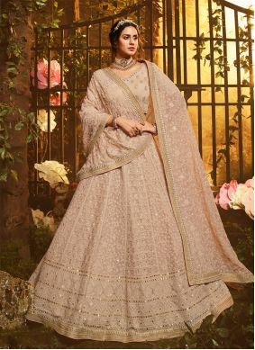 Brown Bridal Lehenga Choli
