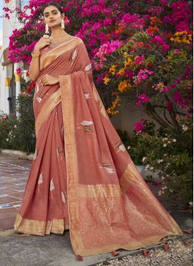 Brown Color Classic Designer Saree