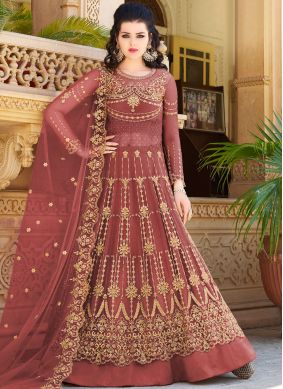 Brown Embroidered Reception Designer Lehenga Choli