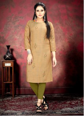 Brown Festival Casual Kurti