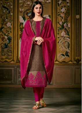Brown Wedding Pant Style Suit