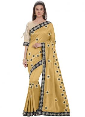 Capricious Gold Silk Casual Saree