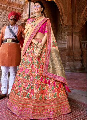 Captivating Banarasi Silk Party A Line Lehenga Choli