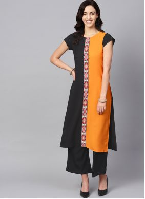 Faux Crepe Kurti For Casual