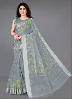 Grey Color Saree For Casual