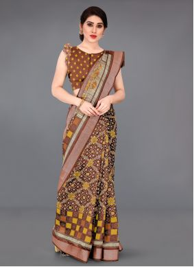 Rust Saree For Casual