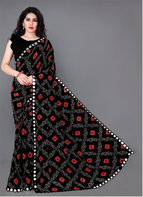 Multi Colour Casual Saree For Festival