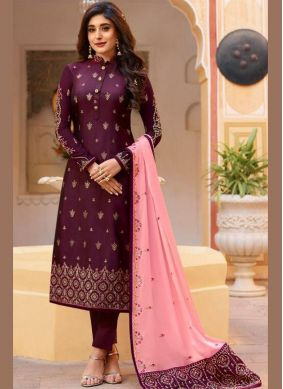 Celestial Purple Dori Work Designer Patila Salwar Suit