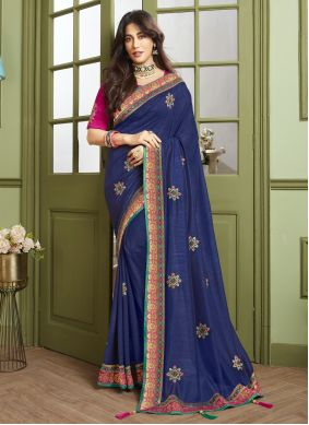 Chitrangada Singh Fancy Fabric Sangeet Designer Traditional Saree