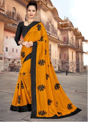 Yellow Classic Saree For Ceremonial