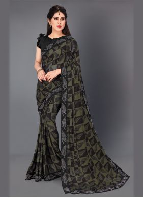 Green Classic Saree For Festival