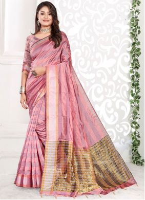 Pink Classic Saree For Festival