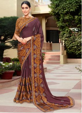 Brown Classic Saree For Party