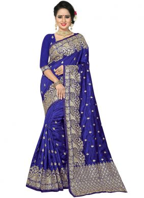 Classy Art Silk Embroidered Designer Traditional Saree