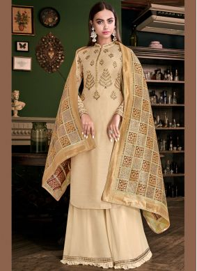 Classy Embroidered Designer Palazzo Suit