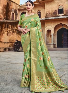 Classy Embroidered Silk Designer Traditional Saree