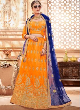 Compelling Art Silk Lace Lehenga Choli