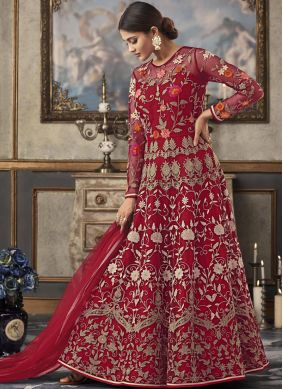 Competent Floor Length Anarkali Suit For Ceremonial