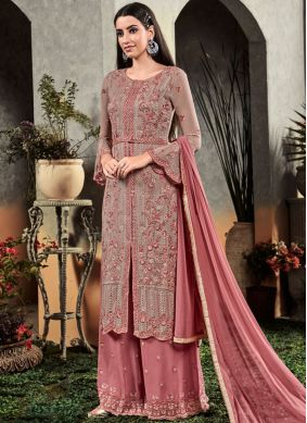 Conspicuous Embroidered Festival Designer Palazzo Salwar Suit