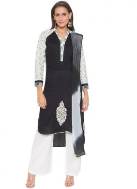 Cotton Black Readymade Suit