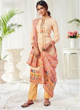 Cotton Cream Digital Print Designer Salwar Kameez